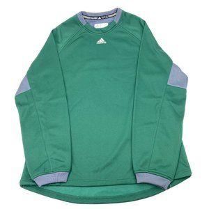 New Adidas Mens Dugout Fleece Pullover Sweatshirt